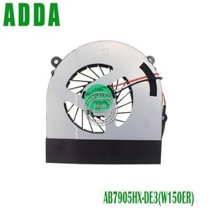 Cooling Fan For CLEVO W150 W150ER W350 W370ET K590S K660E CPU Cooling Fan AB7905HX-DE3 LAPTOP Cooler Radiator(China)