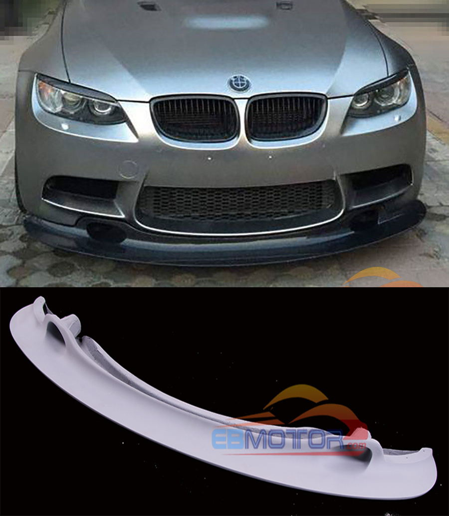 FITS BMW 3 SERIES E92 E93 M3 07-13 2X REAL CARBON FIBER FRONT BUMPER SPLITTERS