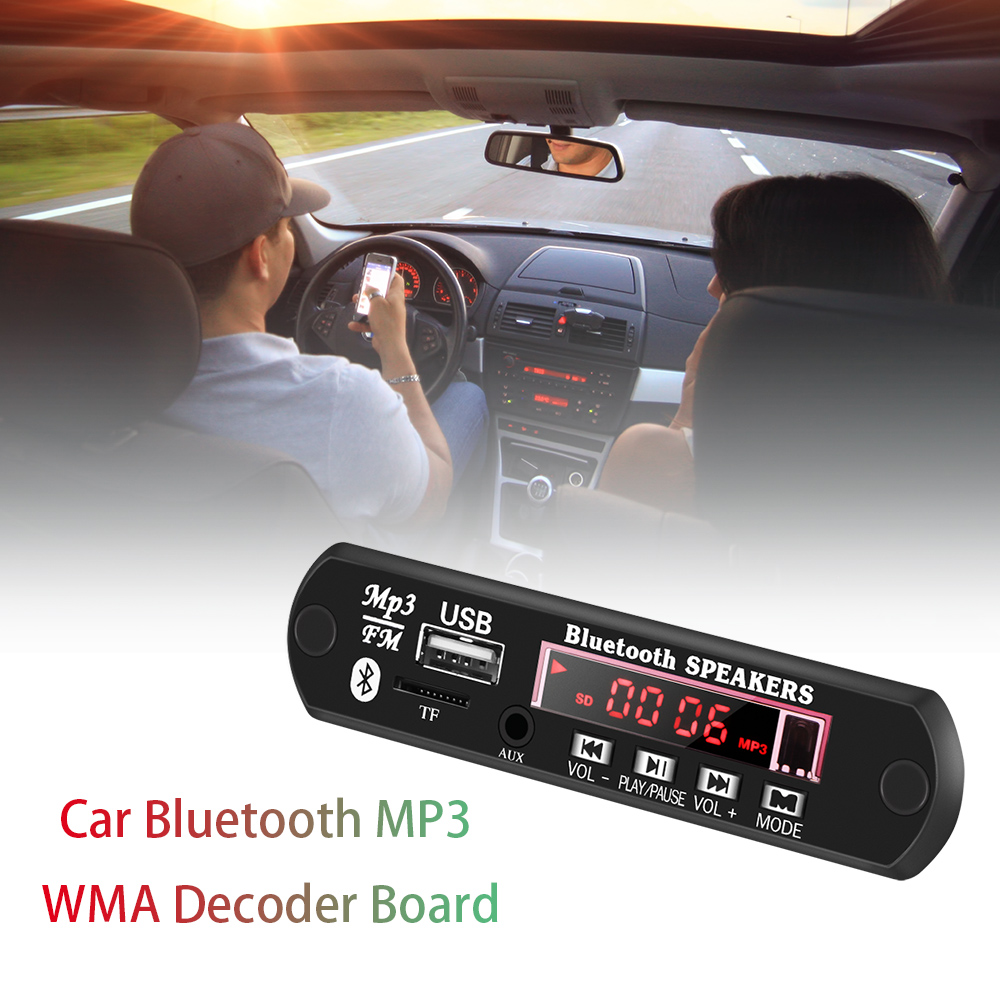 Dynamic 12v Wireless Audio Module Board Car Audio Support Fm Radio/bluetooth/tf/u-flash Disk/mp3/wma With Infrared Remote Control