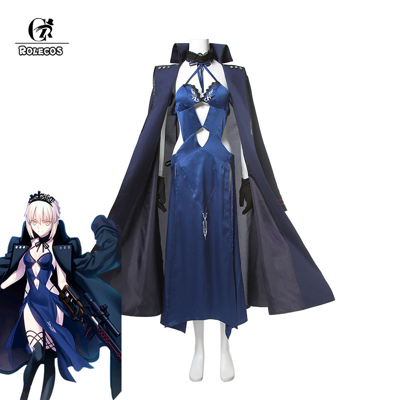 ROLECOS Japanese Anime Fate Stay Night Altria Pendragon Cosplay Costume Fate Zero Saber Arturia Pendragon Cosplay Costume rolecos japanese anime fate stay night altria pendragon cosplay costume fate zero saber arturia pendragon cosplay costume