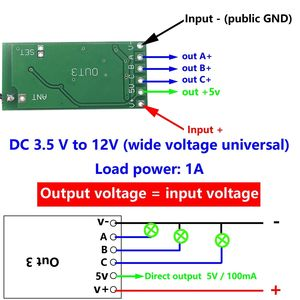 Image 2 - ワイヤレスリモートコントロールスイッチ 433 433mhz の rf 送信受信機 3.5 v 3.7 v 6 V 9 v 12 v 回路マイクロコントローラミニ小型モジュール