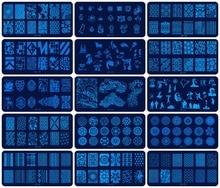 30 Chiếc JR Móng Dập Tấm Thép Không Gỉ 30 Phong Cách Hình Ảnh Konad Dán Móng Nghệ Thuật Làm Móng Bản Mẫu Móng Tem Công Cụ