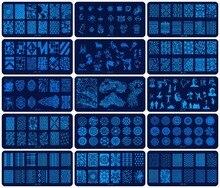 Plantillas para estampación de uñas JR, 30 Uds., de acero inoxidable, 30 estilos de imágenes, herramienta para estampado de uñas Nail Art para manicura