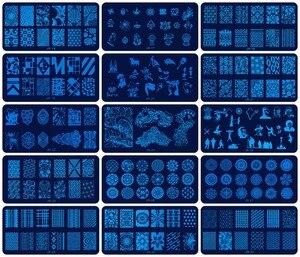 Image 1 - Plantillas para estampación de uñas JR, 30 Uds., de acero inoxidable, 30 estilos de imágenes, herramienta para estampado de uñas Nail Art para manicura