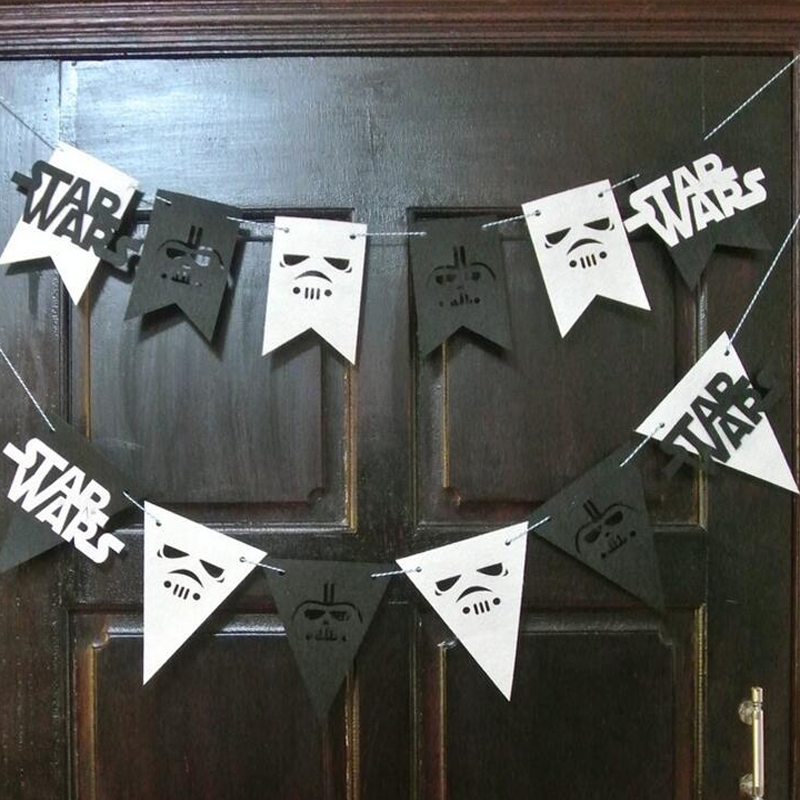 Star Wars Flag Banner Bunting Children/'s Birthday Party Decoration Boys Girls