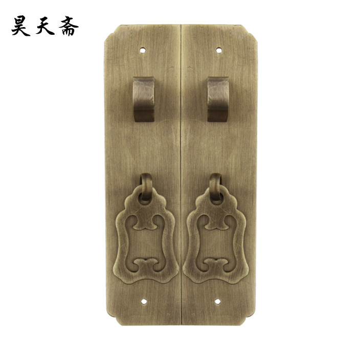 [Haotian vegetarian] antique shoe classic copper handle / cabinet bookcase door copper handle HTC-229[Haotian vegetarian] antique shoe classic copper handle / cabinet bookcase door copper handle HTC-229