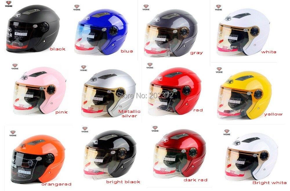 Wholesale - Motorbike half face YOHE Helmets yh837 motorcycle bicycle headpiece safety helmet scoote dirt bike