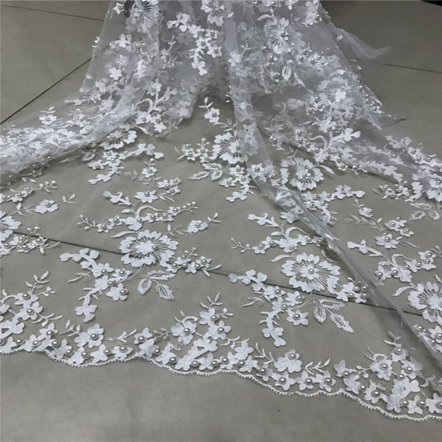 2018 High Quality Nigerian 3D Wedding Lace Fabric White Latest African Laces 2018 French Net Lace Fabric With Beads Mesh Lace2018 High Quality Nigerian 3D Wedding Lace Fabric White Latest African Laces 2018 French Net Lace Fabric With Beads Mesh Lace