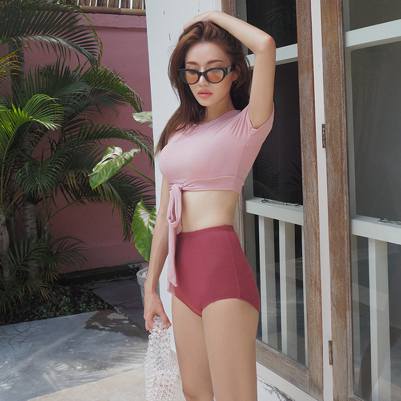 Swimwear For Women Separate Swimsuit 2019 Two Pieces Teenagers Bikinis Fused Female Swim Suits Fitted Underwire Bracket Lycra