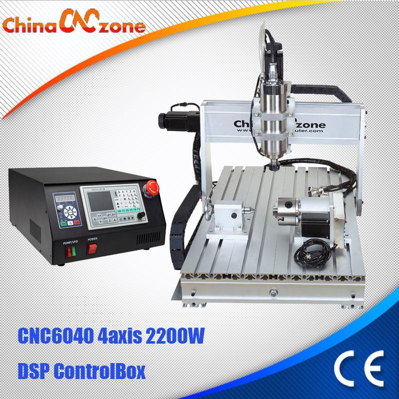2.2KW 6040 CNC Router 4 axis DIY CNC Engraving Cutting Machine DSP Control Box with Water Cooled Spindle CNC Manufacturer 4 axis cnc router 6040 2200w water cooled cnc spindle mini metal woodworking cutting machine