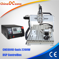 2 2KW 6040 CNC Router 4 Axis DIY CNC Engraving Cutting Machine DSP Control Box With