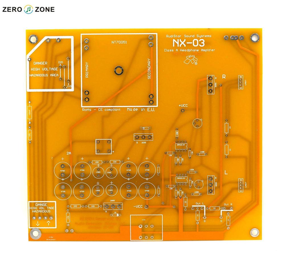 Gzlozone Clone Rudy Nx03 Class A Headphone Amplifier Board Pcb In