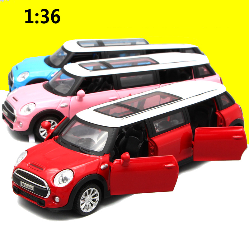 Hurtig levering Classic Mini Alloy Car 1:36 Sports Racing Light Music Die Cast Model Legetøj For Børn High Quality Kid Toy Gifts