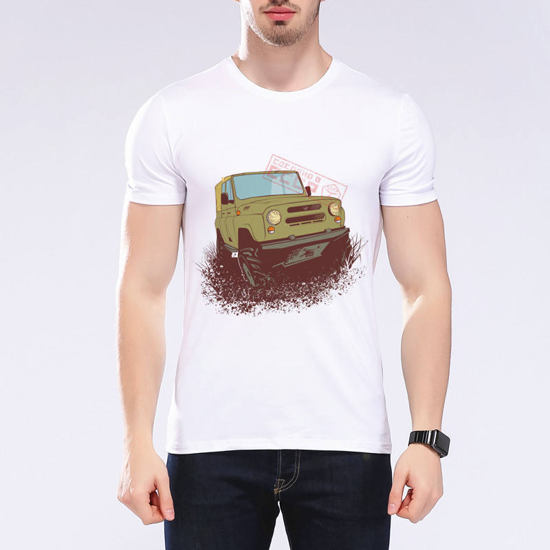 New Men s Personality Car T shirt O Neck Personality Classic Cars T shirt Design Mens