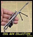 Barrett M82A1 Classic Cool Sniper Rifle Model Keychain Toy Gun Collection Key Ring Jewelry Sniping Gun Weapon Gift for Men Boy