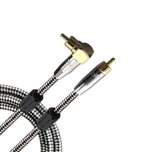 RCA Male to RCA Male Cable DVD Speaker Subwoofer Cable RCA Angle to Straight OFC Braided 1M 2M 3M 5M 8M