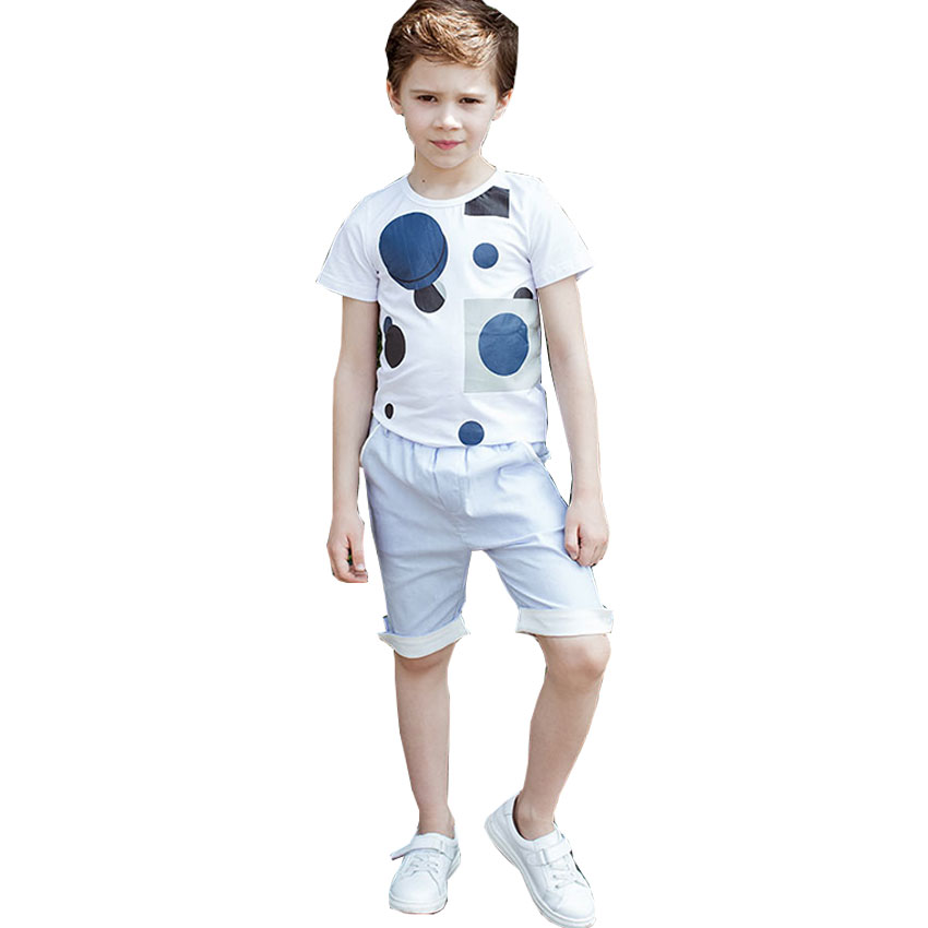 4-12Y 2017 New Boys T Shirt at Cartoon Children T Shirts For Boys Girls Tees Cotton Tops Kids clothes And trousers cotton cartoon t shirts