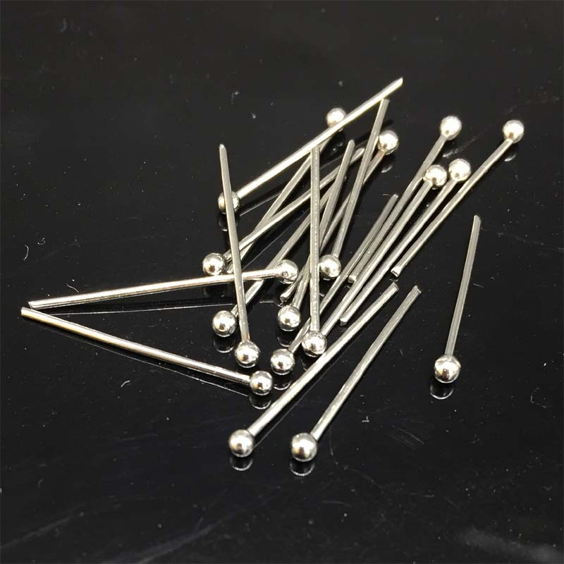 200pcs Stainless Steel Eyepins Jewelry DIY Finding Beadwork Pins DIY Crafts End