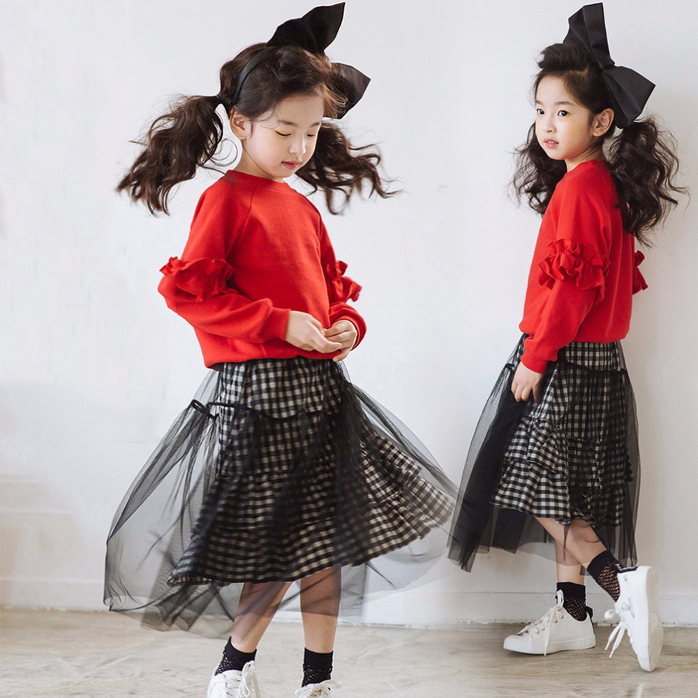 2017Baby Girls New Year Clothes Fashion Product for Teenage Kids Children Clothing for Teens Age 56789 10 11 12 13 14T Years Old 2017 autumn girls blouse ruffle hem flare sleeves blue striped letter design for teens at age 56789 10 11 12 13 14t years old