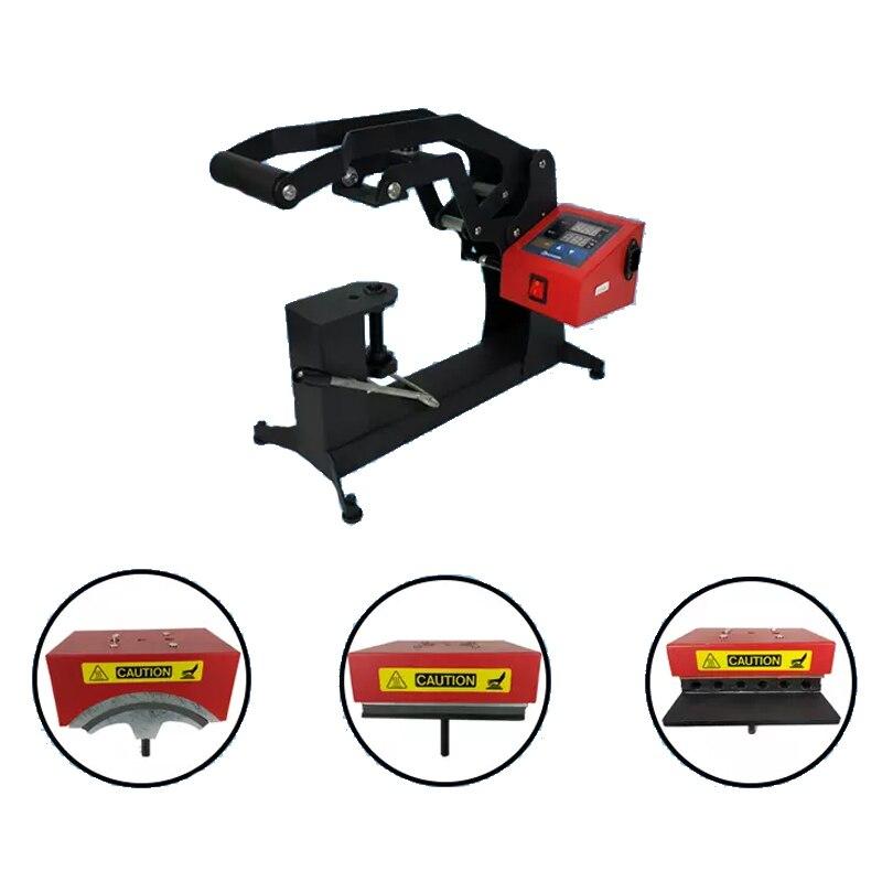Máquina da Imprensa de Calor 3 em 1 Combo Dupla Exibição Tampa cm Logotipo Etiqueta Caneta Máquina Impressão Sublimação Impressora 15×15