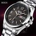 BOSCK Men Watches Top Brand Luxury Men Military Wristwatches Full Steel Business Male Sports Quartz Watch 2016 Sale Waterproof
