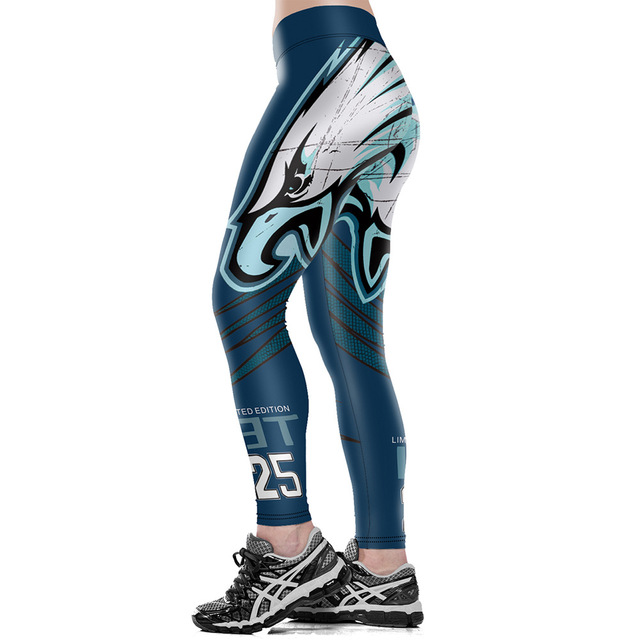 Unisex Football Team Eagles 25 Print Tight Pants Workout Gym Training Running Yoga Sport Fitness Exercise Leggings Dropshipping