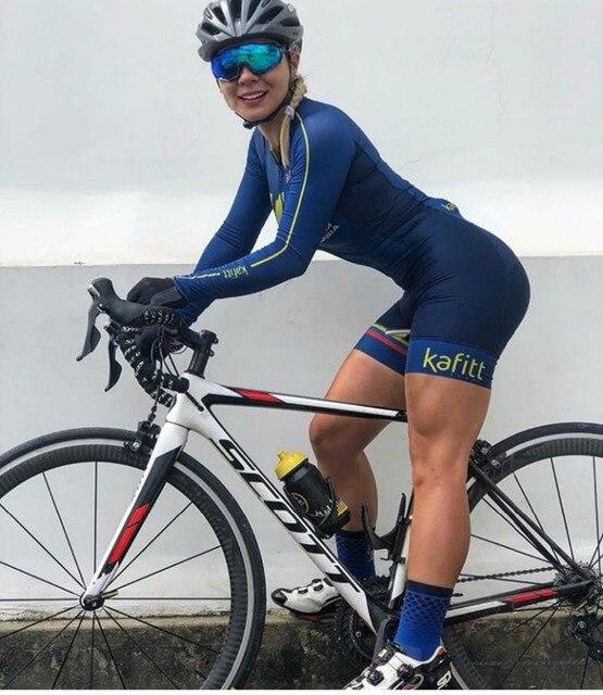 2019 pro equipe triathlon terno feminino camisa de ciclismo skinsuit macacão maillot ciclismo ropa ciclismo conjunto manga longa almofada gel 027 2
