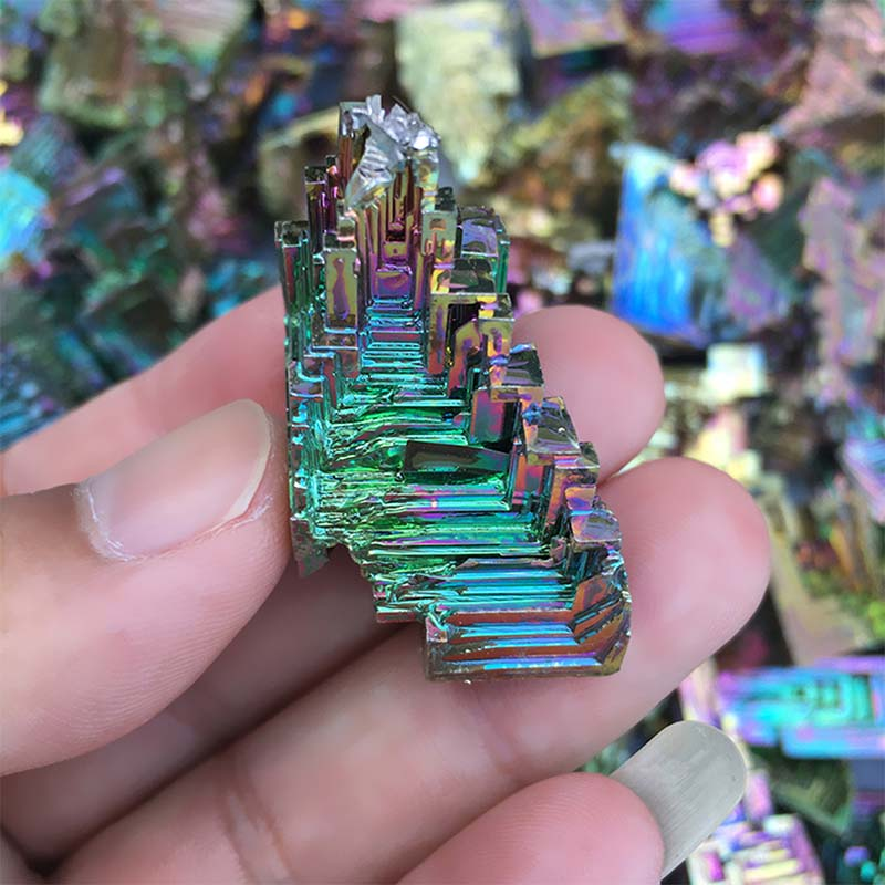 Яркие высокочистые кристаллы бисмута 20 г, профессиональное изготовление бисмута, металлический кристалл