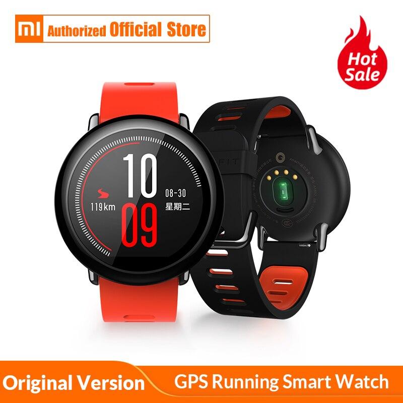 56441ce59 النسخة العالمية Xiaomi Huami AMAZFIT تيرة GPS تشغيل ساعة bluetooth ذكية 4.0  الرياضية مراقب معدل ضربات