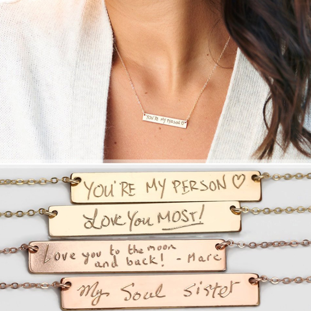 Image 3 - Personalized Handwriting Necklace  Actual Handwriting Necklace 