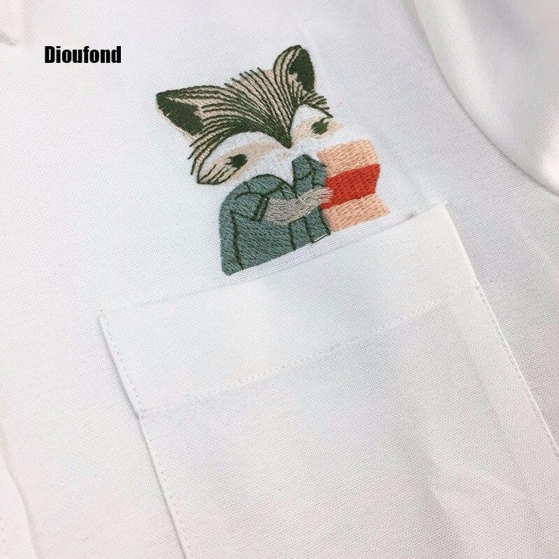 HTB1rK7GOpXXXXataXXXq6xXFXXXM - New Blouse Shirts Print Fox on Pocket Shirts Lady Tops