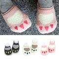 Baby Kids Girls Non-slip Slipper Socks Soft Warm Coral velvet Warmers Socks 0-4Y L07
