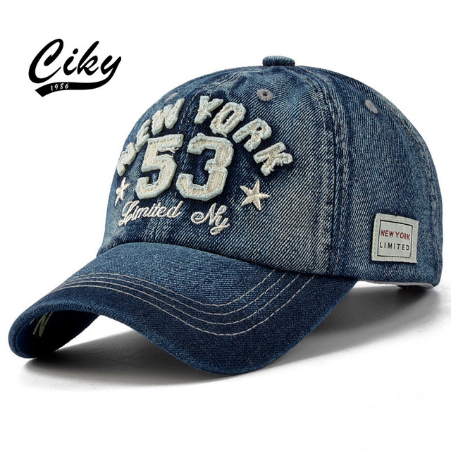 0db9de14a45f7 New Fashion Casual Adult Baseball Cap Boy Girl Gorras Denim Number 53  Embroidery Snapback Casquette Sport