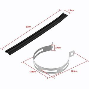 Image 5 - Soporte Universal para tubo de escape de motocicleta, silenciador semicírculo, colgador de tubo, soporte de escape, tubo de silenciador para motocicleta, 1 Uds.