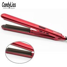2019 New Curls Hair Straightening Iron Ceramic Curling Corrugate Styling Tools Volume Curler EU