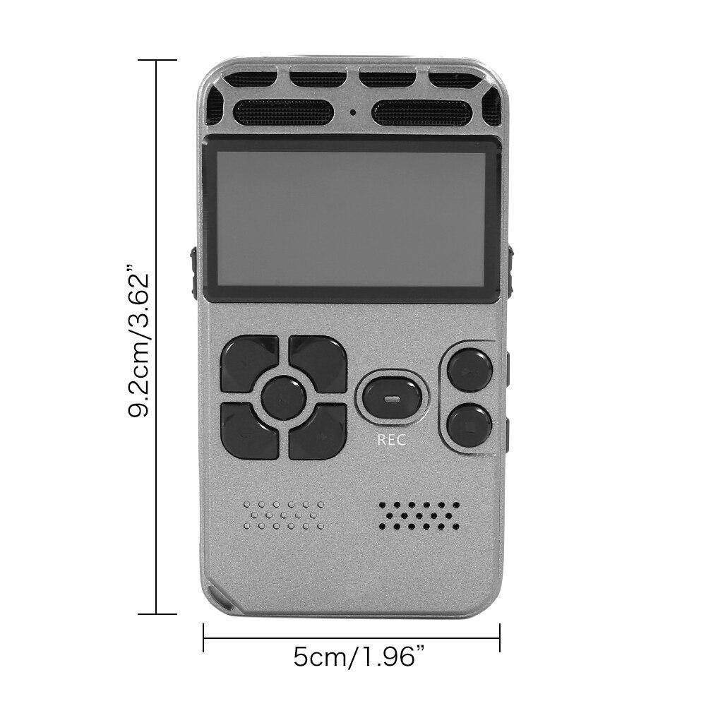 Enregistrement Audio numérique 8 GB enregistreur vocal USB professionnel 72 heures Dictaphone avec lecteur MP3 WAV pour conférences réunions - 6