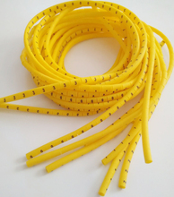 1000pcs/lot freeshipping  0.75 to 10mm2 plum cable marker 0-9 10 different number yellow color
