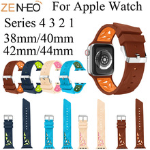 Silicone watchband For Apple Watch band 42mm 44mm 38mm 40mm For iwatch strap series 4/3/2/1 Replacement wristband watch bracelet цена и фото