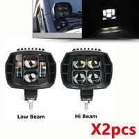5 inch 40W Led Work Light High Low Beam 12V 24V 4x4 Offroad Boat Truck SUV ATV Motorcycle Headlight For Jeep Driving Fog Lights