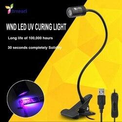 WNB UV LED światłoczuły atrament światło utwardzające naprawa telefonu lampa usb Multitool swobodny obrót sprzęt oświetleniowy 3D ultra jasny lampa w Zestawy narzędzi ręcznych od Narzędzia na
