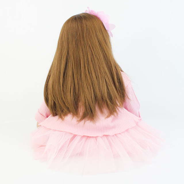 60cm Soft Silicone Reborn Baby Doll Toy For Girl Long Hair Princess Toddler Babies Lifelike Alive