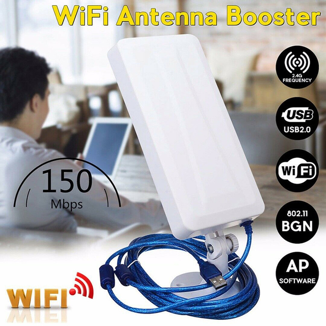 USB wireless network card WiFi Extender Wireless Outdoor Router Repeater computer network signal enhanced wifi receiver 5m 1