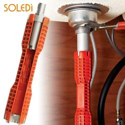 Оранжевый кран и раковина установщика оригинальность гаечный ключ раковина практичный многофункциональный двойной глава кран ключ