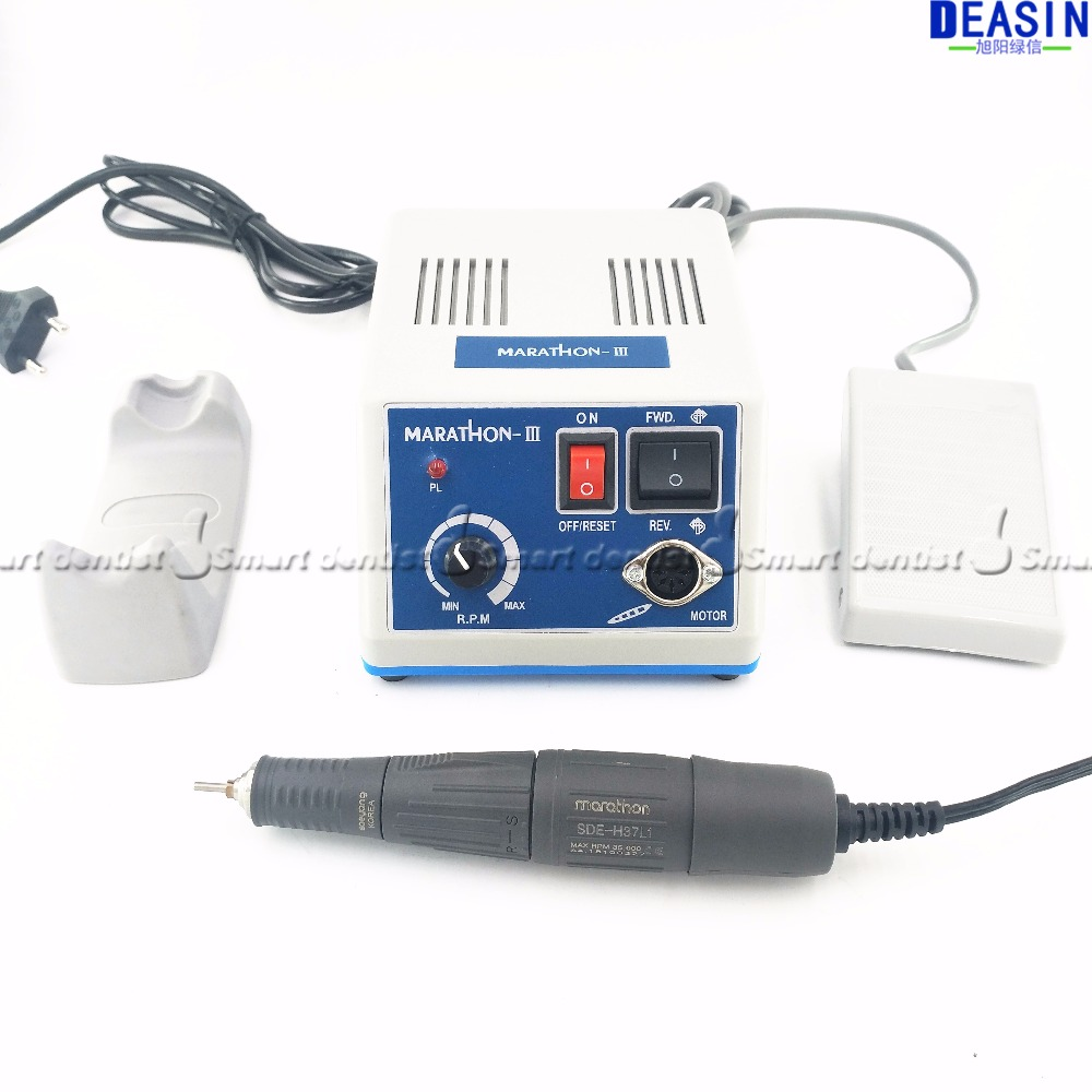 Haute qualité Livraison gratuite Dental Lab MARATHON Micromoteur Machine N3 + 35 k RPM Polissage Pièce À Main 110/220 v
