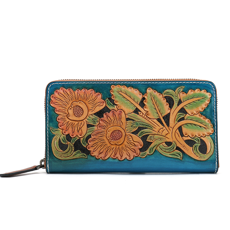 2017 NEW women's Genuine leather Flower wallet card purse Candy color long zipper wallet coin purse fashion lady clutch wallet new wallet fashion genuine leather lady purse woman long style cow leather clip new women s wallet