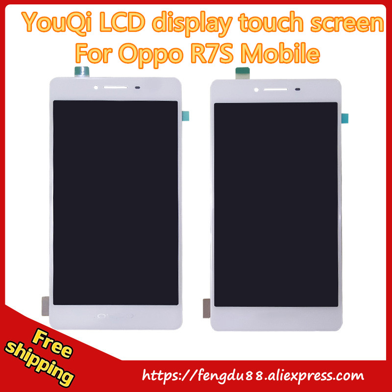 YouQi New LCD Display Touch Screen Digitizer Panel Glass Lens Sensor Assembly For OPPO R7 R7s Replacement Parts Repair Part