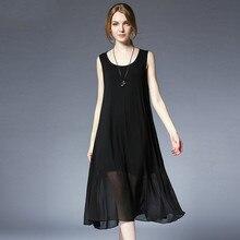 087316ac05a5 Embellike Flow Chiffon Midi Sleeveless Summer Women Plus Size Woven Tank  Dresses