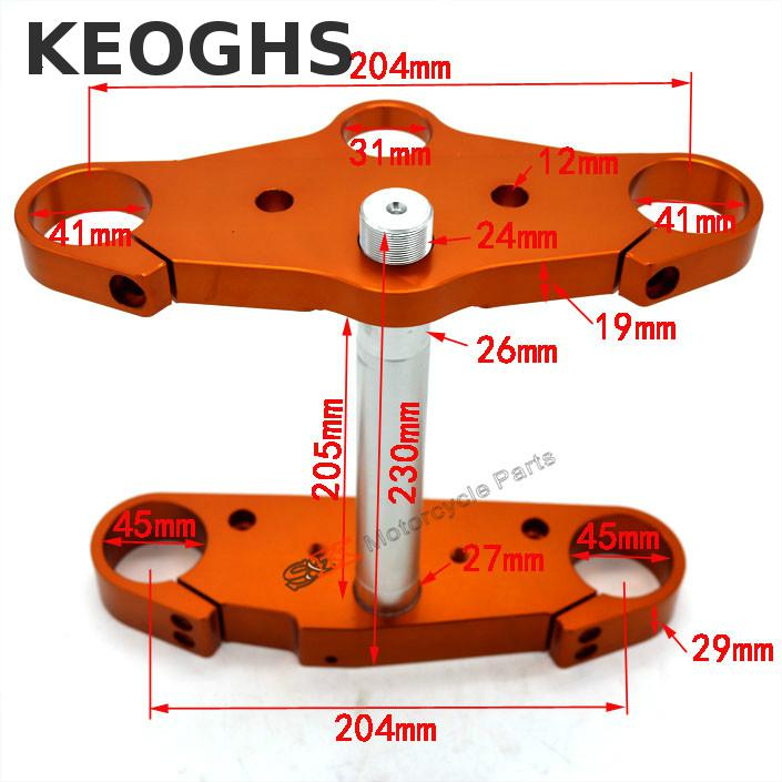 Keoghs Motorcycle Triple Trees Cnc Aluminum Top And Bottle Clamp For 41mm Fork Tubes For Thailand Honda Msx125 Money