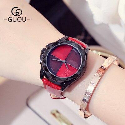 GUOU Brand Luxury Watches Fashion Quartz Watch Women Watches Ladies Girls Famous Brand Wrist Watch Female Clock Relogio Feminino все цены