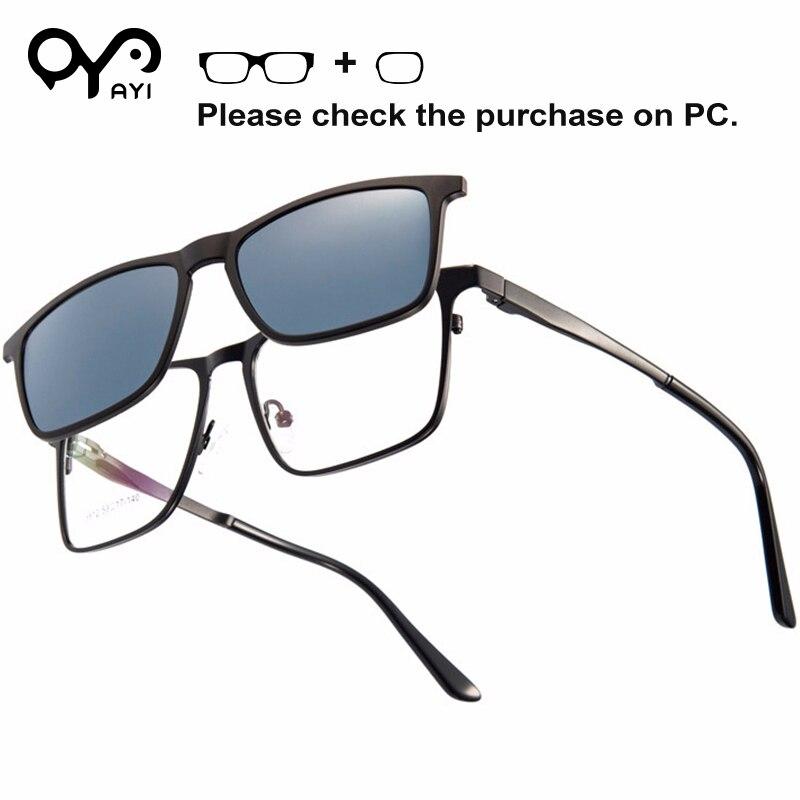 100% Kwaliteit Mannen Bril Bril Frames Clip Op Zonnebril Voor Lenzen Mode Ultra Licht Flexibele Acetate Lichtmetalen # Tj5512